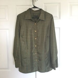 Talbots vintage polyester blouse 20w